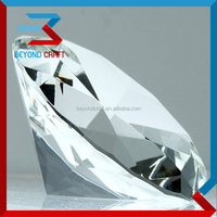 120mm clear big crystal diamond for table showpiece