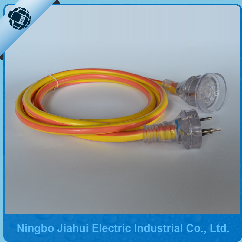 Australia standard orange and yellow extension cord