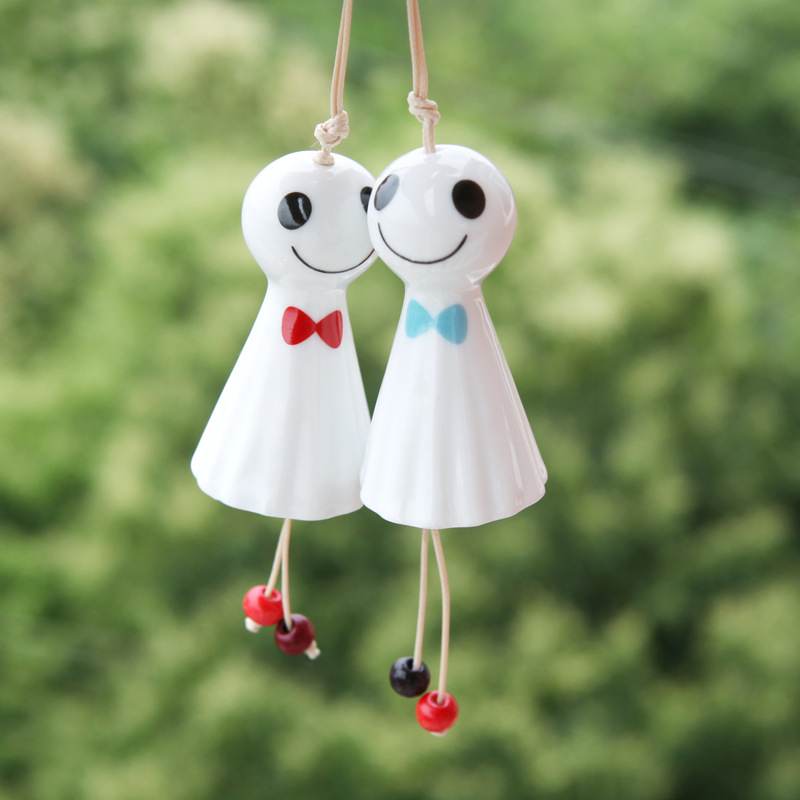 Wholesale Jingdezhen cheap porcelain windbell doll for kids gifts