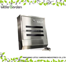 Stainless Steel Mailbox,square shape lettle box,lockable post box