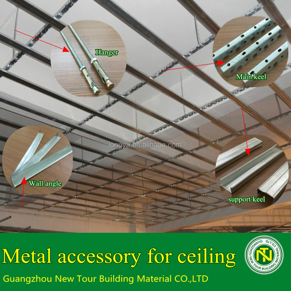 Paper face gypsum board accessories for ceiling