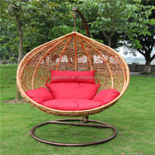 Swinging Egg Wicker Chair Cushions Stand Seat Hanging Outdoor Patio Deck Garden