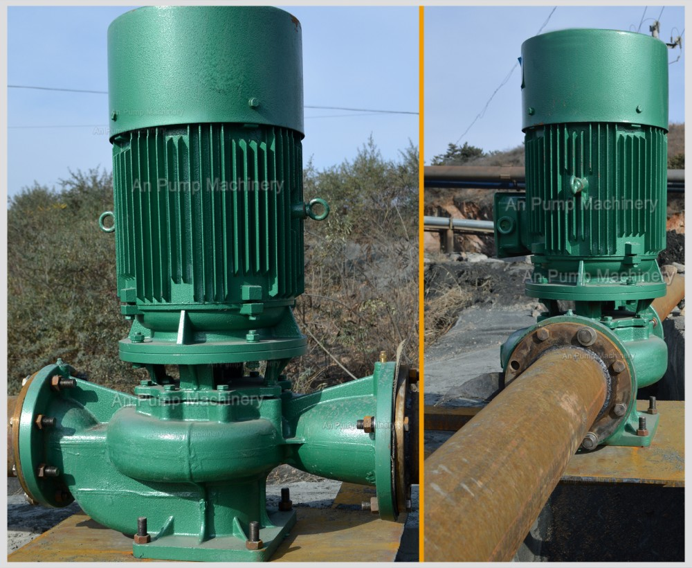 Centrifugal Cooling Tower : Small water circulation vertical inline pump for