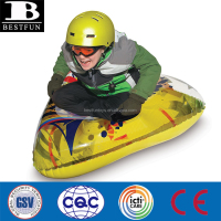 safety thick PVC inflatable winter triangle wedge air snow tube sled with heavy duty grab handles