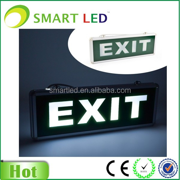 aluminum case LED emergency exit sign CE RoHS SAA emergency light exit light