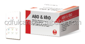 ABO & RhD Blood grouping type rapid diagnostic test kit/ one step blood type test kit/ blood Grouping Rapid Test