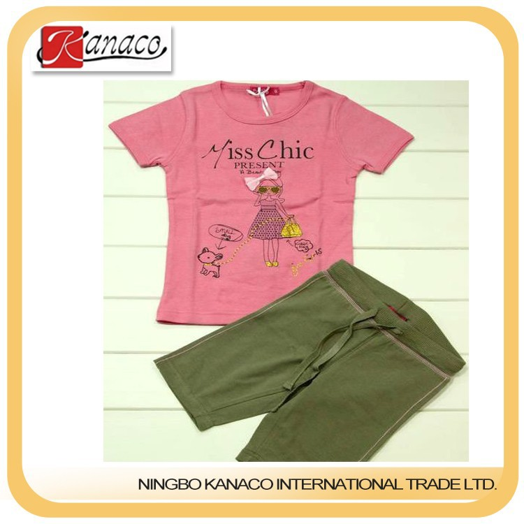 Kids Clothing Wholesale/wholesale name brand clothing(KN-CS-10)