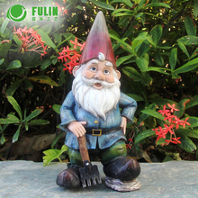 Classy garden decoration custom resin funny small gnome figurines