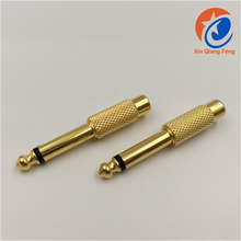 Gold plated 6.5mm Stereo Male Plug to RCA Female Jack Audio Adapter Connector