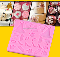 Hot newest girl accessories fondant mold girl accessories fondant mold girl accessories shaped mold