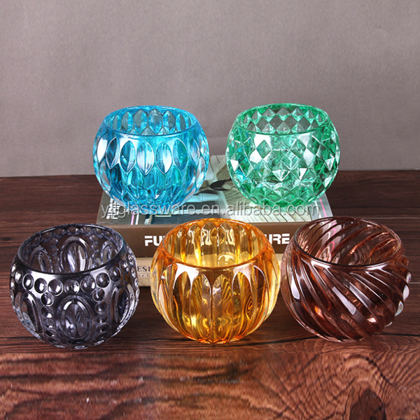 glass candle holder yufeng industry