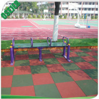 Wear Resistant Recycled Outdoor Rubber Tile