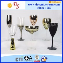 Red wine copper cheap colored glass goblet