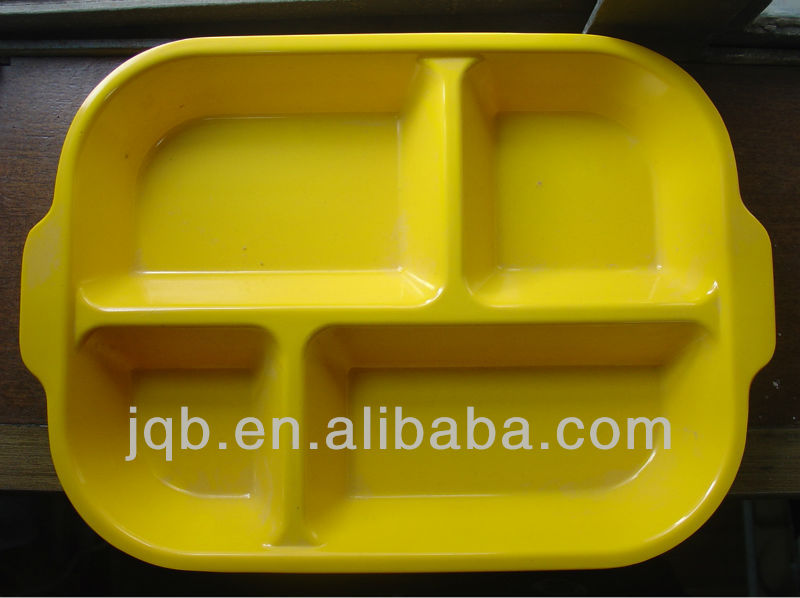 high quality new design square melamine mess Tray