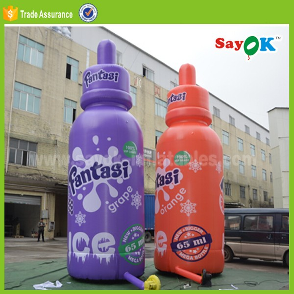 custom made inflatable water bottle used liquor bottle for sale