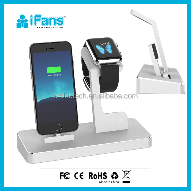 3 in 1 MFI charging Dock Power Station,smart Watch charging Stand, iPhone7, and 2 USB output for smart devices