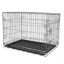 Wholesale cheap 2 doors locks pet cage with tray large dog cage for sale images