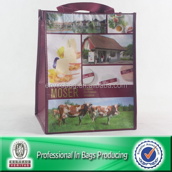 Wipe-clean rpet eco friendly custom reusable shopper
