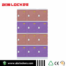 china supplier purple colors four tires ABS plastic lockers movable cabinet for athletes
