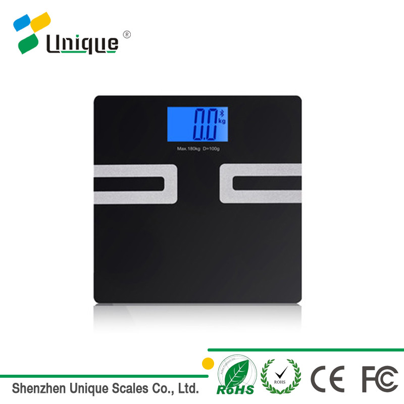 400lbs Bluetooth Personal Human Health Electronic Accurate Balance Tempered Glass Digital Body Fat Bathroom Scale