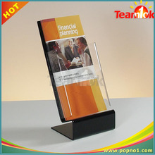 A5 desktop wall amount clear acrylic brochure book holder single document display