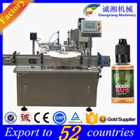 High accurancy full auto e liquid bottle labeling filling packing machine