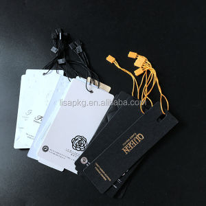 custom different size and color hang tag for clothing in china