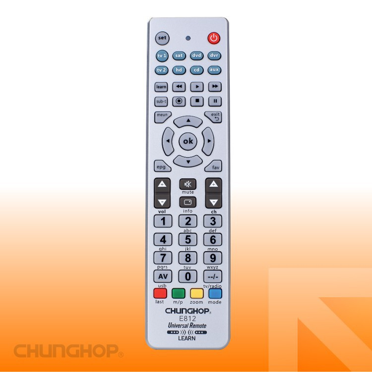 E812 Universal Remote Control with operation 8 devices with 1 remote