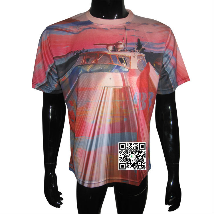 Dye Sublimation Jersey, Custom Design Unisex Crew Neck T-shirt Any Size Can Be Customized