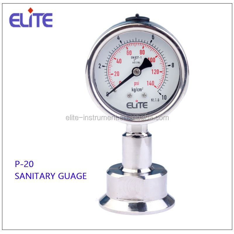 P-20 All SS Sanitary Pressure Gauge Diaphragm Type 50mm and 63mm