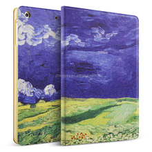 Van Gogh Painting Pu Leather Smart Case for Ipad Mini, Folio Stand Cover Case for Ipad Mini123 (Dark Clouds)