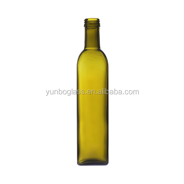 china wholesale square glass marasca olive oil bottle 750ml
