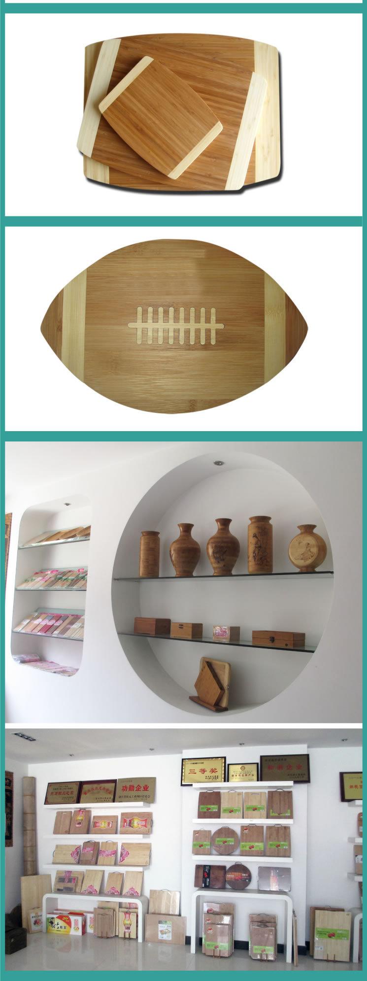 MXHAPPY Bamboo Cutting Board Natural Bamboo Cheese Board set 3 piece custom cutting board