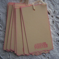 white jeans garment paper hang tag for clothing