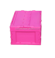 plastic collapsible folding crate/ Pink Storage Folding Box For Toys&Book