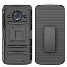 New Combo Shell Holster Kickstand Case for Moto G6 Plus