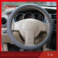 New Design Leather Knitted Steering Wheel Cover/Auto Steering Wheel Cover