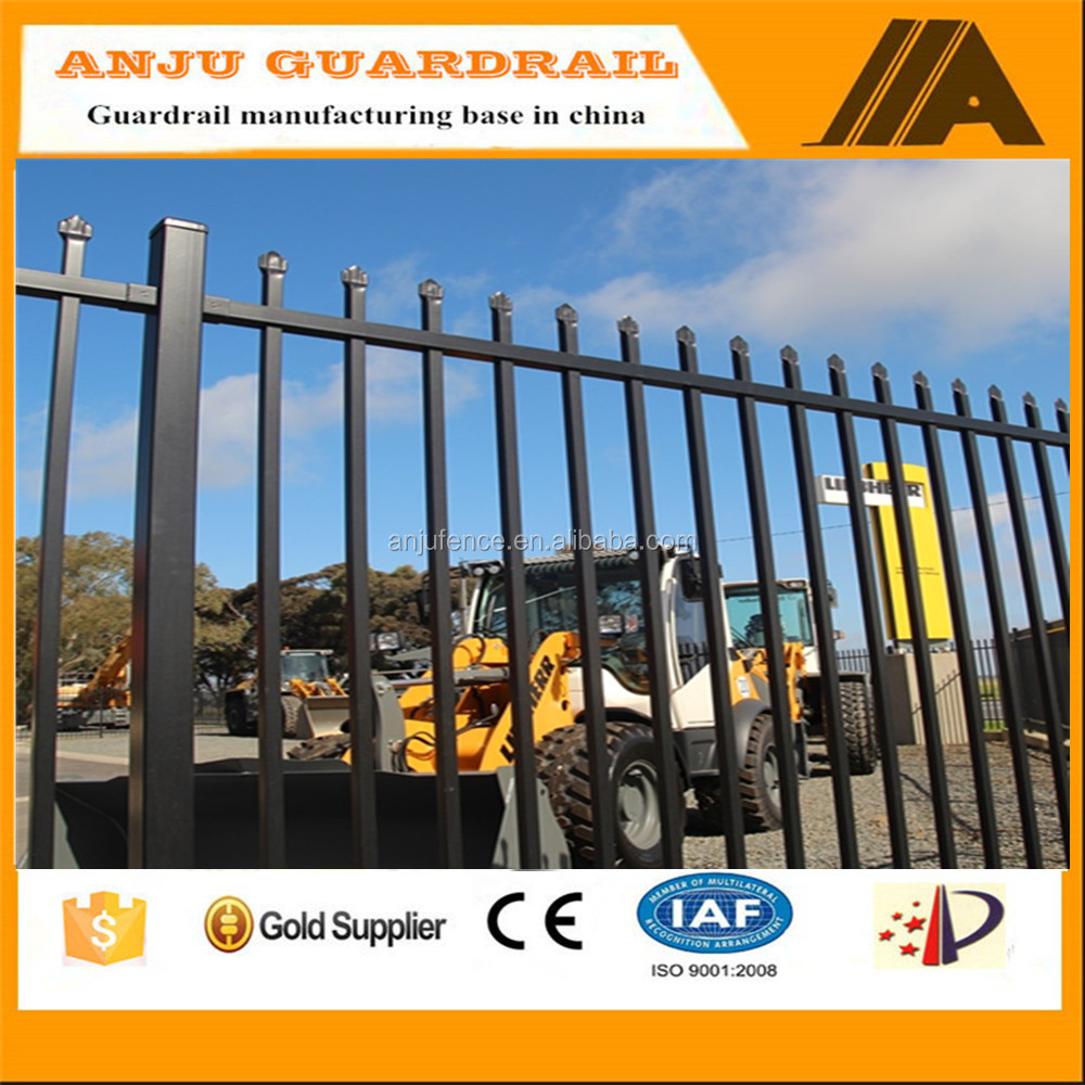 2017 powder coated security fence design ,cheap wrought iron fence panels