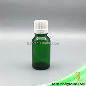 30ml small green glass potion filling bottle for essential oil with tamper evident proof cap