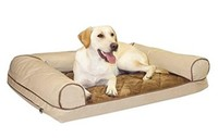 Memory Large Foam Cozy Sofa dog bed , White/Chocolate