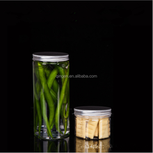 Wholesale Small Airtight Plastic 8oz Bottle pet jar food container for snacks cookies cake tea fruit nuts candy coffee can