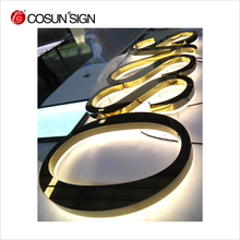 Acrylic light guide plate logo halo illuminated letters
