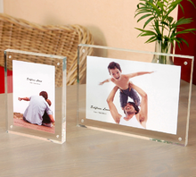 Professional manufacturing exquisite acrylic magnetic photo frame block wholesale