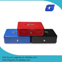 Small lock portable metal steel cash box safe