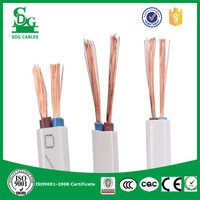 pvc insulated 2 core 1.0mm2 flexible electrical wire