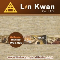 Linkwan Taiwan W03-020 woven hotel fabric 3d board wallpaper