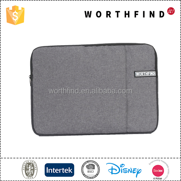2017 hot sale polyester custom 15.6 inch laptop sleeve with BSCI factory audit