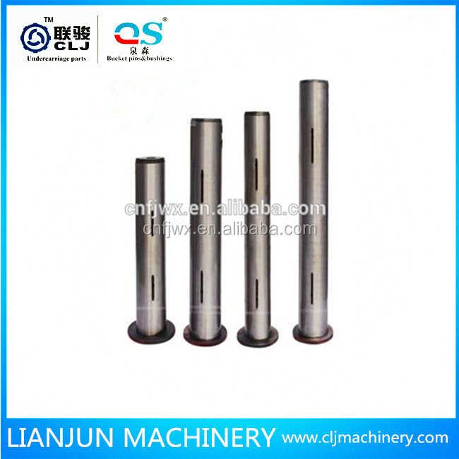PC300 excavator Idler shaft bucket pins for excavator shaft lock pins