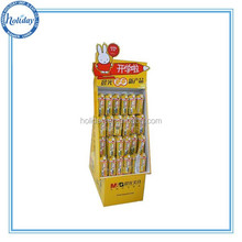Custom Cardboard hook display stand for mobile / cell phone accessories display rack with hooks