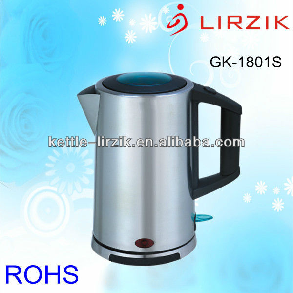 Most energy efficient 1850w stainless steel cordless electric boiling kettle